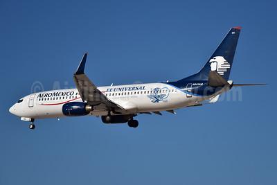 AeroMexico Boeing 737-83N WL N861AM (msn 30706) (El Universal - 100 Anos) LAS (Eddie Maloney). Image: 936278.