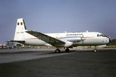 AeroMaya Hawker-Siddeley HS.748-214 XA-SEI (msn 1576) (Bruce Drum Collection). Image: 951120.