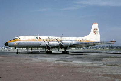 """""""Moctezuma"""", damaged beyond repair at Tijuana  on July 9, 1965 when  main gear collapsed on landing"""
