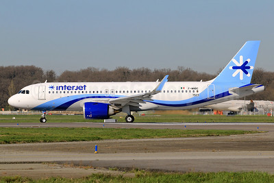 The first Airbus A320neo for Interjet