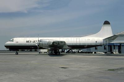 Mex-Jet Cargo Lockheed 188A (F) Electra XA-AEG (msn 1147) (Atlantic Airlines colors) MEX (Michel Saint-Felix). Image: 950773.