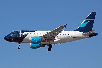 Mexicana Airbus A318-111 XA-UBV (msn 2394) LAX (Michael B. Ing). Image: 905284.