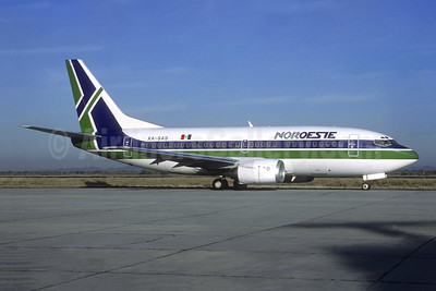 Noroeste Boeing 737-5Y0 XA-SAS (msn 25191) HMO (Christian Volpati Collection). Image: 945587.