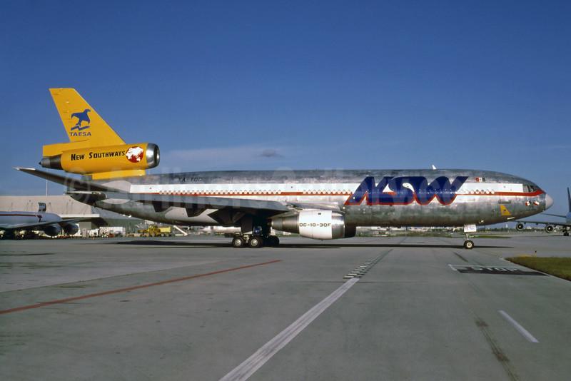 TAESA - NSW-New Southways McDonnell Douglas DC-10-30 (F) XA-TDC (msn 46891) MIA (Bruce Drum). Image: 103895.