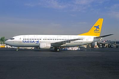 TAESA Boeing 737-33A XA-SGJ (msn 24030) MEX (Christian Volpati). Image: 945241.