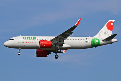 The first Airbus A320neo for VivaAerobus, delivered on October 6, 2016
