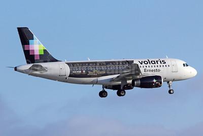 "Volaris Airbus A319-133 XA-VOE (msn 3069) ""Jose Cuervo Express"" LAX (Michael B. Ing). Image: 912703."