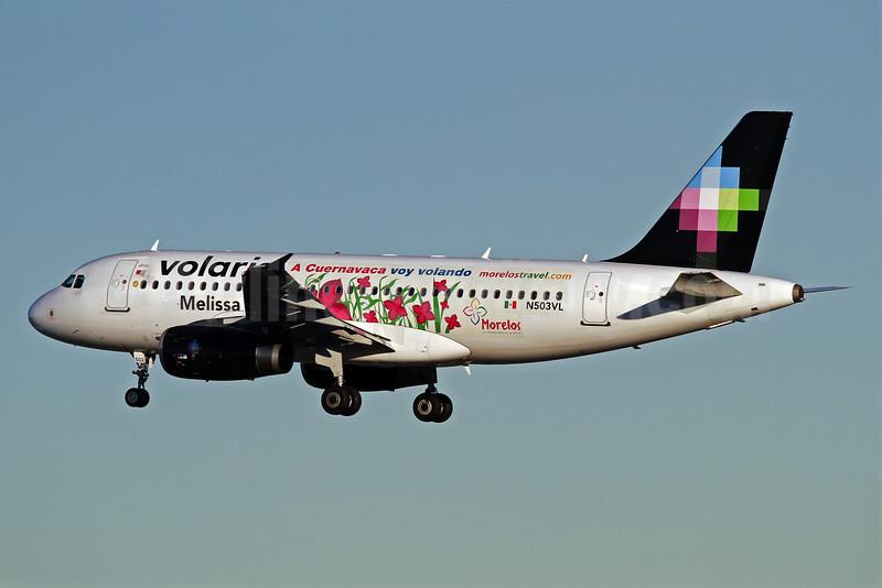 Volaris Airbus A319-132 N503VL (msn 3491) (Melissa-A Cuernavaca voy volando) LAX (James Helbock). Image: 905894.