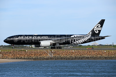 "First b777-200 in the ""All Blacks"" livery"