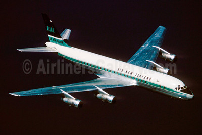 Air New Zealand-TEAL McDonnell Douglas DC-8-52 ZK-NZA (msn 45750) (TEAL colors) (Stephen Tornblom Collection). Image: 921191.