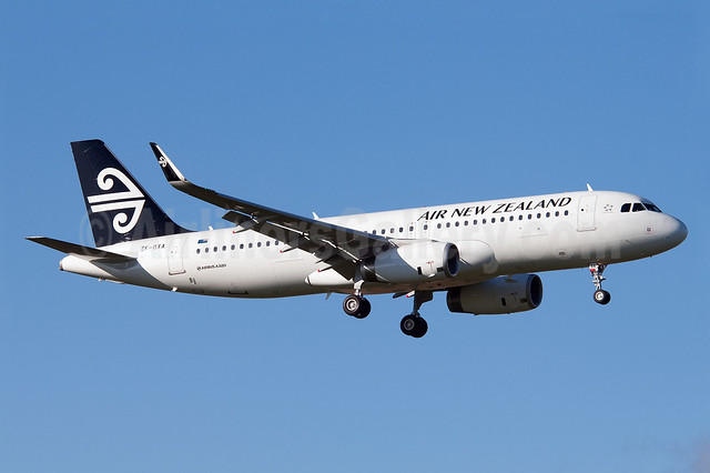 Air New Zealand Airbus A320-232 WL ZK-OXA (msn 5629) (Sharklets) AKL (Colin Hunter). Image: 912780.