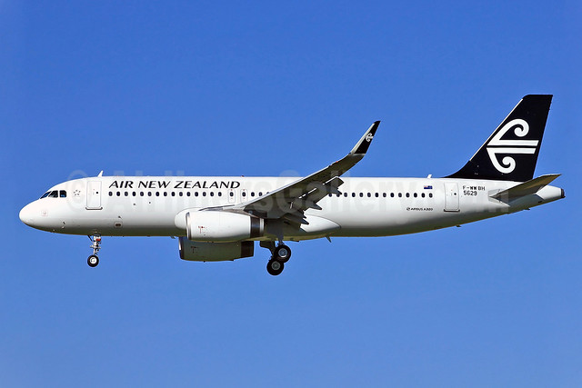 Air New Zealand Airbus A320-232 WL F-WWBH (ZK-OXA) (msn 5629) (Sharklets) TLS (Eurospot). Image: 912523.