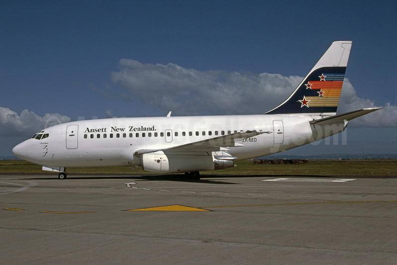 Ansett New Zealand Boeing 737-112 ZK-NED (msn 19770) (Rob Rindt Collection). Image: 925502.