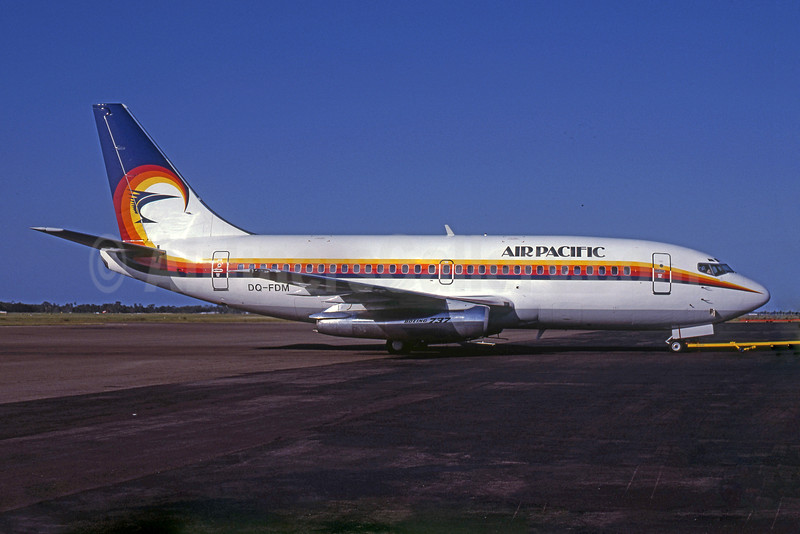 Air Pacific (2nd) (Fiji) Boeing 737-2X2 DQ-FDM (msn 22679) (Rob Rindt Collection). Image: 925487.