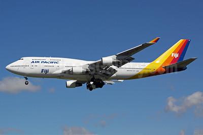 Air Pacific (2nd) (Fiji) Boeing 747-412 DQ-FJK (msn 24064) LAX (Michael B. Ing). Image: 906188.