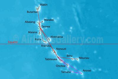 Air Kiribati Route Map