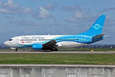 Our Airline-Air Kiribati Boeing 737-3Y0 VH-INU (msn 23684) (joint titles) SYD (John Adlard). Image: 906446.