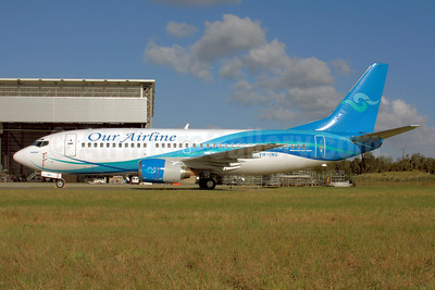 Our Airline Boeing 737-3Y0 VH-INU (msn 23684) BNE (Peter Gates). Image: 906807.