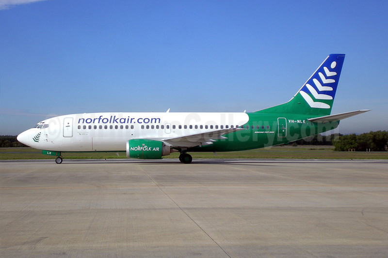 Norfolk Air (norfolkair.com) (Our Airline) Boeing 737-33A VH-NLK (msn 23635) BNE (Christian Laugier). Image: 903581.