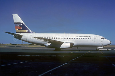 Polynesian Airlines (Ansett Airlines) Boeing 737-277 VH-CZM (msn 22645) (Ansett colors) SYD (Robert N. Smith - Bruce Drum Collection). Image: 932015.