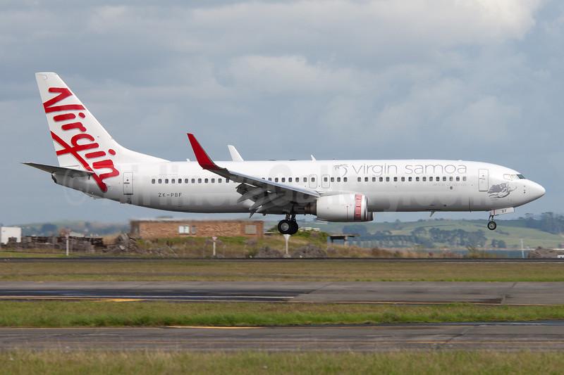 Virgin Samoa-Airline of Samoa Boeing 737-8FE WL ZK-PBF (msn 33799) AKL (Colin Hunter). Image: 907958.