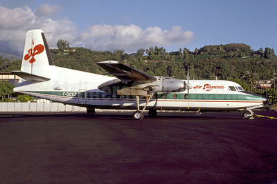 Air Polynésie Fairchild F-27A F-OCVZ (msn 91) PPT (Bruce Drum Collection). Image: 954817.