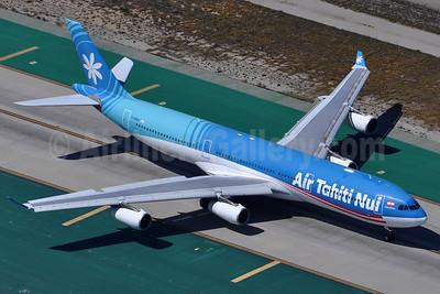 Air Tahiti Nui Airbus A340-313 F-OSEA (msn 438) LAX (Robbie Shaw). Image: 937694.