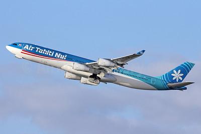 Air Tahiti Nui Airbus A340-313 F-OJTN (msn 395) LAX (Michael B. Ing). Image: 920100.
