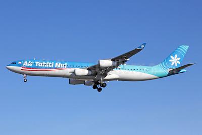 Air Tahiti Nui Airbus A340-313 F-OLOV (msn 668) LAX (Michael B. Ing). Image: 920102.