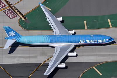 Air Tahiti Nui Airbus A340-313 F-OSEA (msn 438) LAX (Robbie Shaw). Image: 937695.