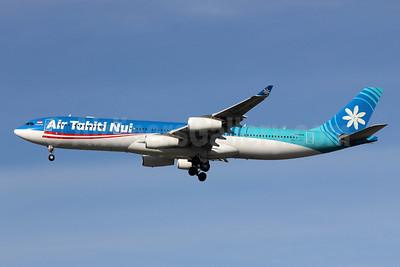 Air Tahiti Nui Airbus A340-313 F-OSUN (msn 446) LAX (Michael B. Ing). Image: 908486.
