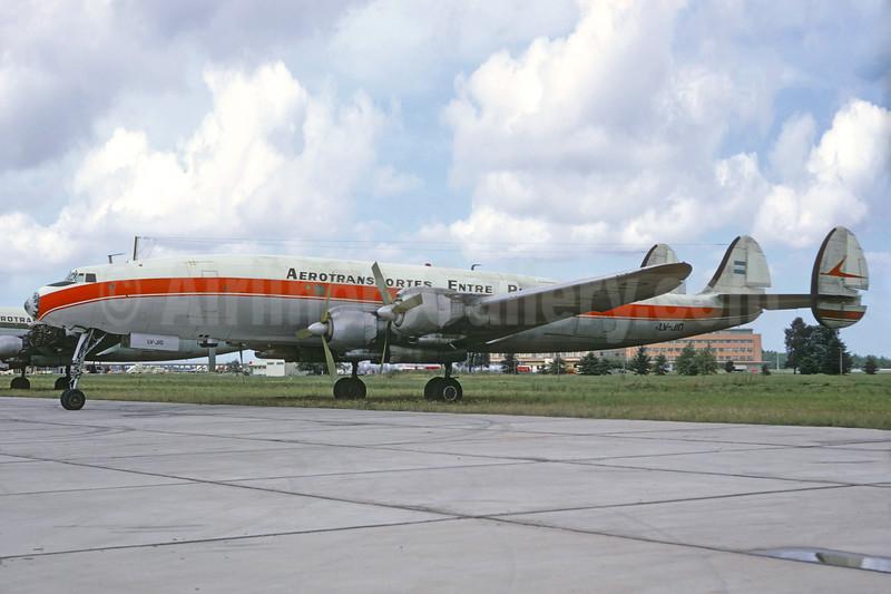 Aerotransportes Entre Rios Lockheed 1049H-82-147 Super H Constellation LV-JIO (msn 4808) EZE (Jacques Guillem Collection). Image: 936702.