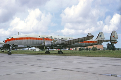 Aerotransportes Entre Rios Lockheed 1049H-82-147 Super H Constellation LV-JIO (msn 4808) EZE (Jacques Guillem Collection). Image: 936702.