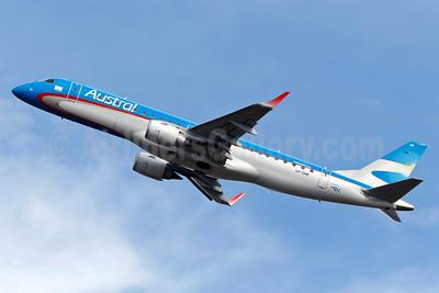 Austral Lineas Aereas Embraer ERJ 190-100 IGW LV-CHR (msn 19000400) GRU (Bernardo Andrade). Image: 911177.