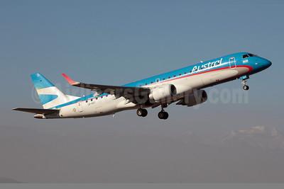 Austral Lineas Aereas Embraer ERJ 190-100 IGW LV-CET (msn 19000383) SCL (Alvaro Romero). Image: 908232.