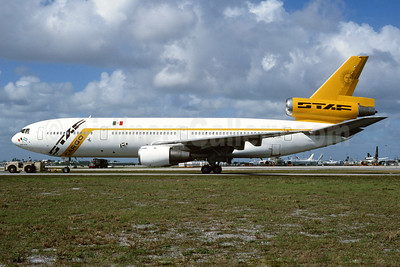 STAF Cargo (Servicios de Transportes Aéreos Fueguinos) (TAESA) McDonnell Douglas DC-10-30 (F) XA-TDC (msn 46891) MIA (Bruce Drum). Image: 104147.