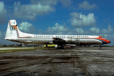 TAR-Transporte Aereo Rioplatense Canadair CL-44D4-6 Swingtail LV-JZM (msn 33) MIA (Christian Volpati Collection). Image: 936704.