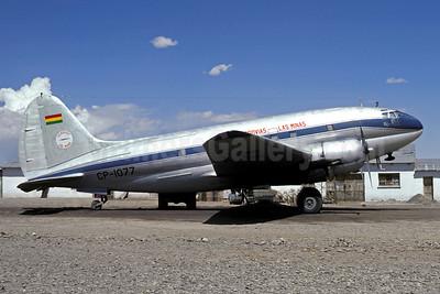 Aerovias Las Minas Curtiss C-46D-10-CU Commando CP-1077 (msn 32968) LPB (Christian Volpati Collection). Image: 946431.