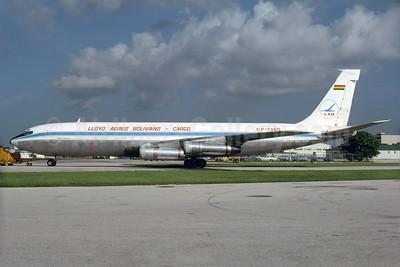 Lloyd Aereo Boliviano Cargo-LAB Boeing 707-323C CP-1365 (msn 18692) MIA (Bruce Drum). Image: 103952.