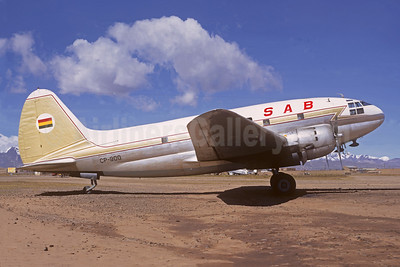 SAB (Servicios Aéreos Bolivianos) Curtiss C-46A-CU Commando CP-900 (msn 30239) LPB (Christian Volpati Collection). Image: 951169.