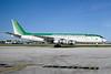 Transportes Aereos Bolivianos (TAB) McDonnell Douglas DC-8F-54 Jet Trader CP2217 (msn 45668) (Burlington Air Express colors) MIA (Bruce Drum). Image: 104176.
