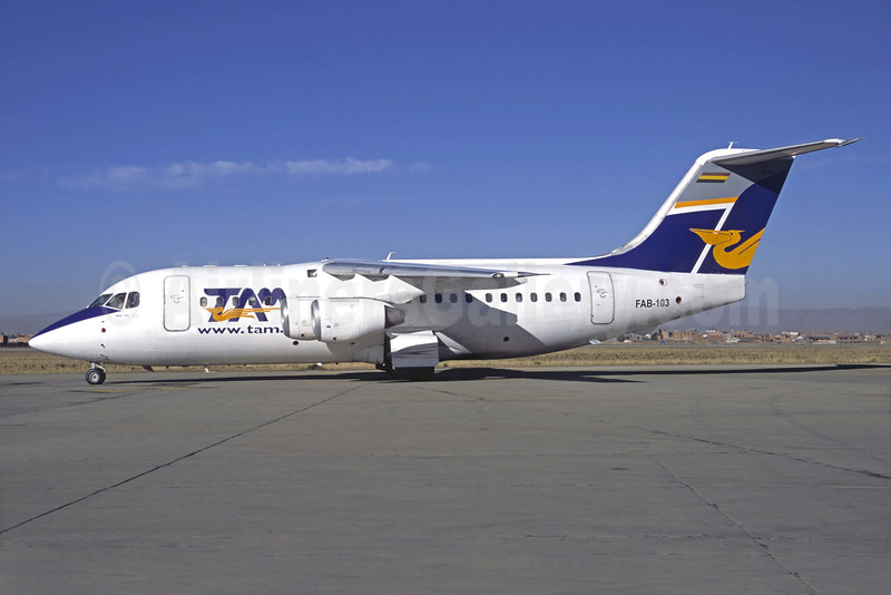 TAM (Bolivia) BAe 146-200 FAB-103 (msn E2040) LPB (Christian Volpati). Image: 905622.