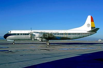 Transporte Aereo Militar-TAM (Bolivia) Lockheed 188A Electra TAM 01 (msn 1125) LPB (Christian Volpati Collection). Image: 950915.