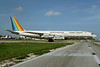 Aero Brasil (Trans Brasil-Transbrasil Linhas Aereas) (Arrow Air 2nd) Boeing 707-327C N707AD (msn 19529) MIA (Bruce Drum). Image: 103508.