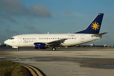 Nordeste VARIG Boeing 737-5Y0 PT-MNH (msn 26067) (VARIG colors) MIA (Bruce Drum). Image: 100575.
