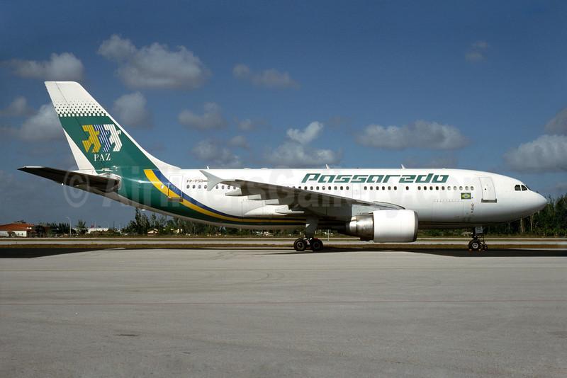 Passaredo Linhas Aereas Airbus A310-322 PP-PSD (msn 437) OPF (Bruce Drum). Image: 104189.