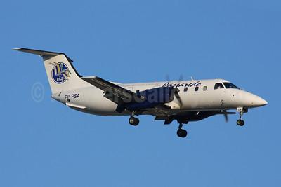 Passaredo Transportes Aereas-PAZ Embraer EMB-120ER Brasilia PP-PSA (msn 120302) GRU (Marcelo F. De Biasi). Image: 900103.