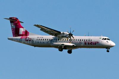 TRIP Linhas Aereas ATR 72-212A (ATR 72-500) PP-PTQ (msn 874) (Pink Plane - Fight Against Breast Cancer) GRU (Rodrigo Cozzato). Image: 909703.