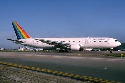Trans Brasil (Transbrasil Linhas Aereas) Boeing 707-3P6 ER PT-TAM (msn 24349) MIA (Bruce Drum). Image: 104191.