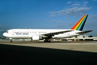 Trans Brasil (Transbrasil Linhas Aereas) Boeing 767-283 ER PT-TAI (msn 24727) MIA (Bruce Drum). Image: 104173.